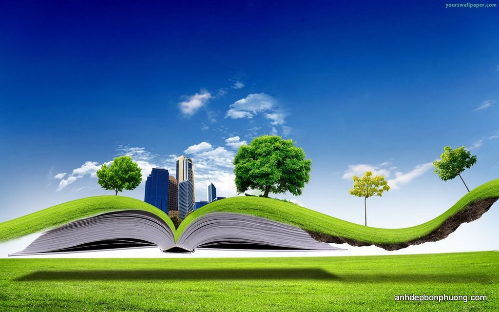 hinh-nen-2d-cho-laptop-3D-Green-Nature-Book-Wallpaper